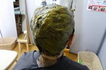 天然ヘナの髪染体験